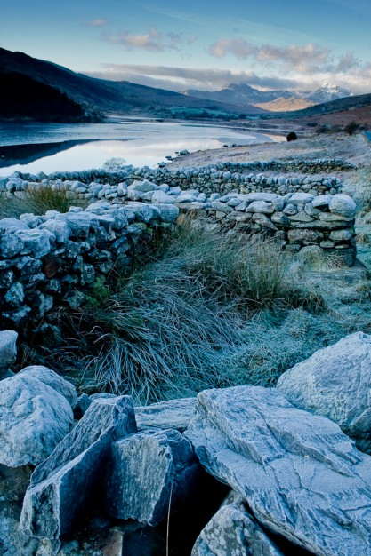 Llynnau Mymbyr with Sheep walls, Snowdonia