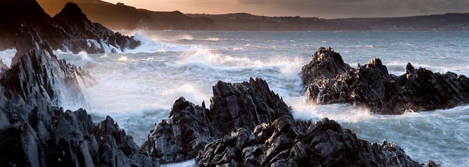 Fishguard coastline, Pembrokshire, Wales