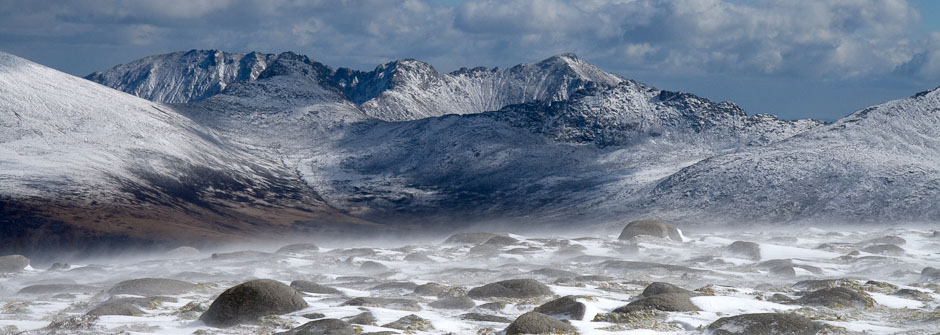 Goat fell in Winter, Isle of Arran, Scotland