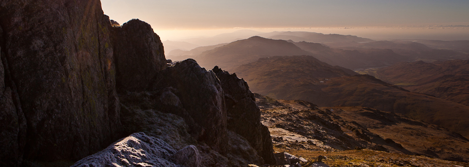 The Langdales from crinkle crags - Lake District
